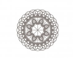Floral Mandala Vector Art CDR File