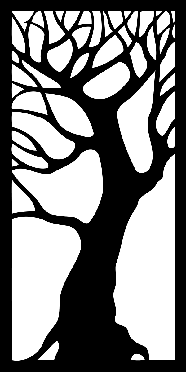 Tree – Decorative Panel DXF File