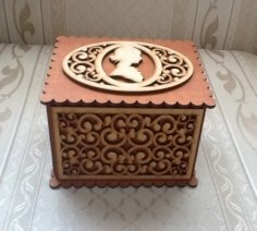 Lasercut Cameo Box CDR File