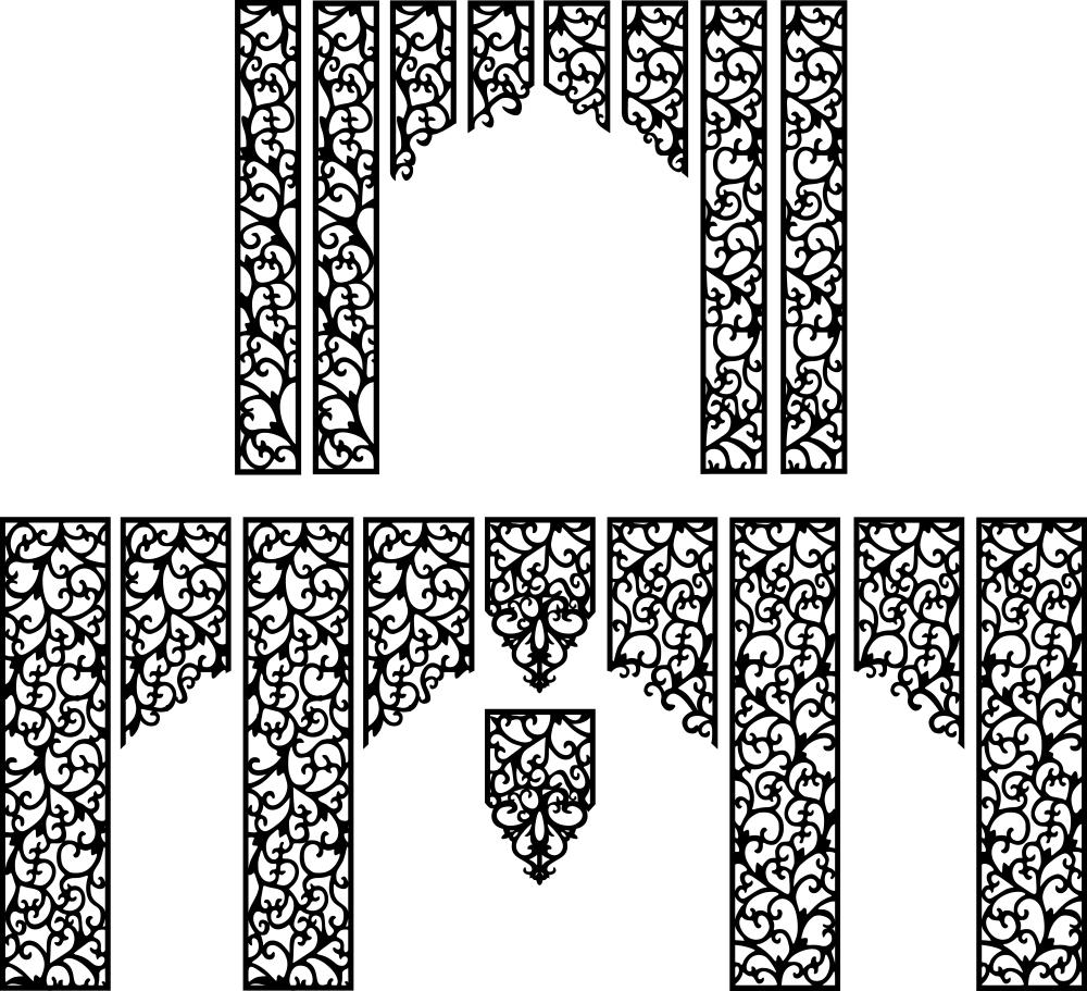 Wedding Screen Patterns Free Vector