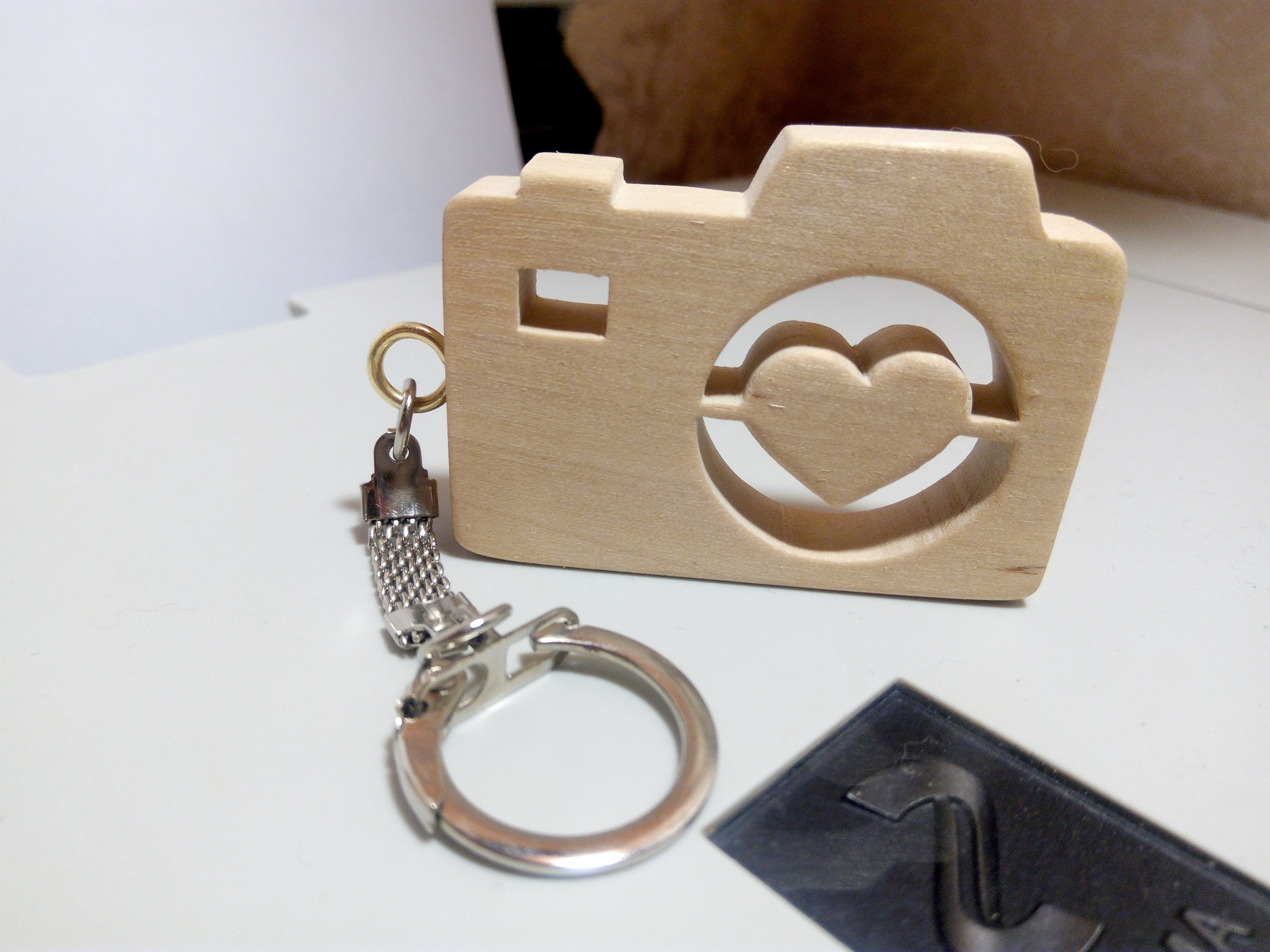 Heart Camera Keychain Laser Cut PDF File