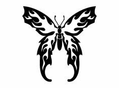 Flaming Butterfly dxf File