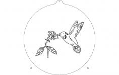 Humming Bird Sail dxf File