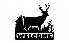 Deer Welcome dxf File