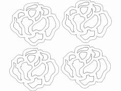 Rosa 21 Pp 19,94×17,39 dxf File