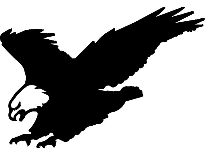 American Eagle Landing dxf File