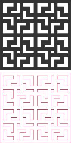 Seamless maze pattern DXF File