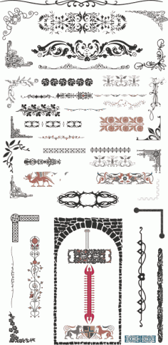 Collection CNC Vectors Free Vector