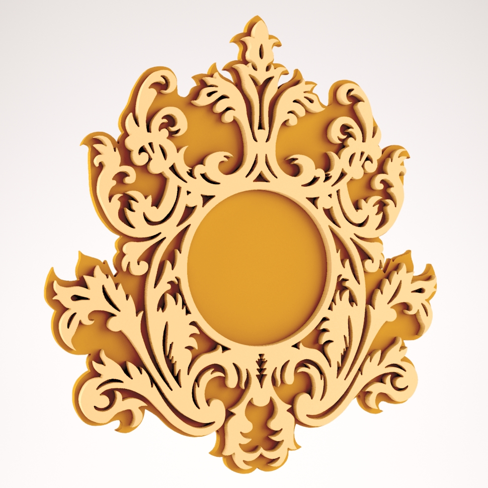 Wall Mirror Frame Design DXF File
