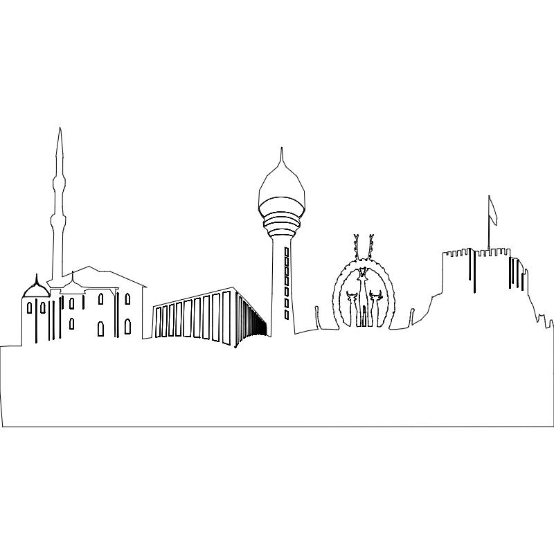 Ankara Silueti dxf File