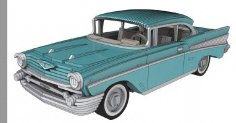 Chevrolet Bel Air 1957 – 3 Mm dxf File