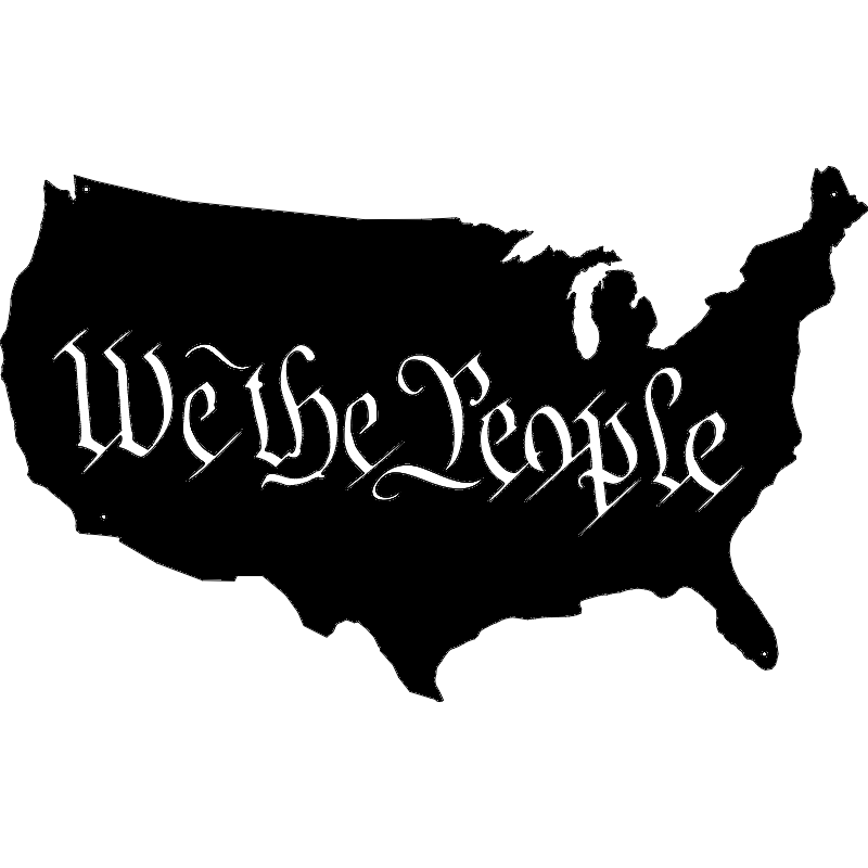 We The People Usa Map dxf File