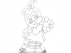 Abeja (Bee) dxf File