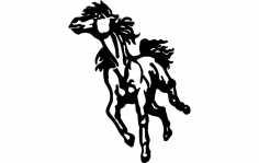 Horse running dxf File