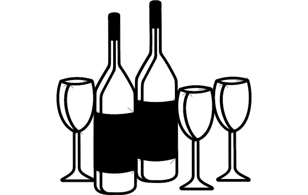 Wine Rack Signs dxf File