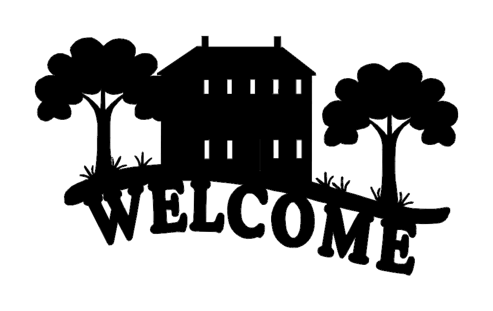 Welcome sign cabin dxf File
