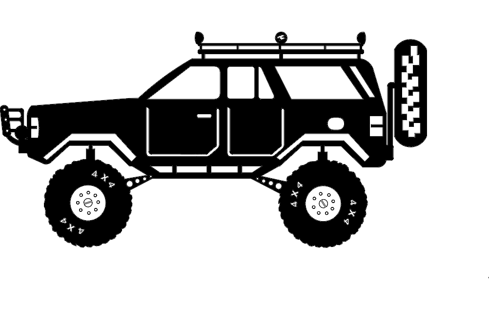 Jeep Cherokee dxf File