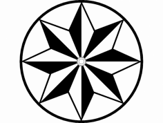 Barn Star dxf File