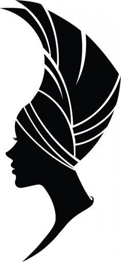 Woman Silhouette Vector Art jpg Image