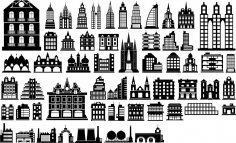 Building Silhouette Vector Free Vector