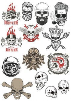 Skull motorclub stock vector CDR File
