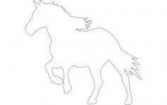 Running Horse Silhouette dxf File