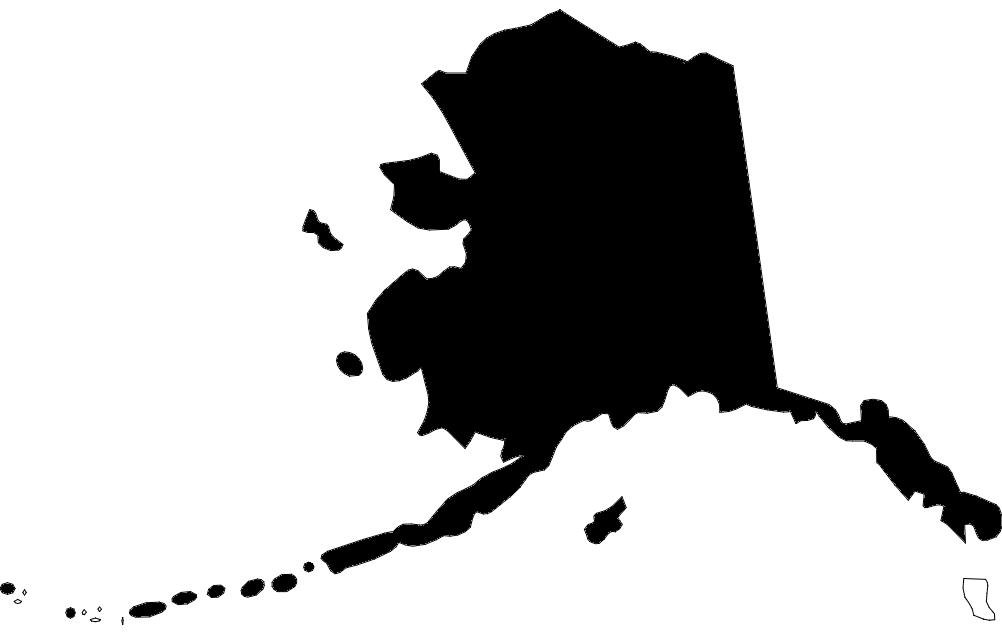 US State Map Alaska Ak dxf File