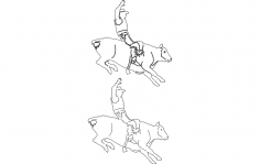 Rodeo Cowboy 12 dxf File