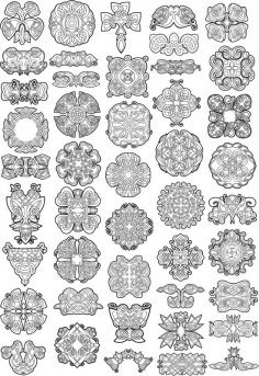 Collection of Celtic Knot Patterns Free Vector