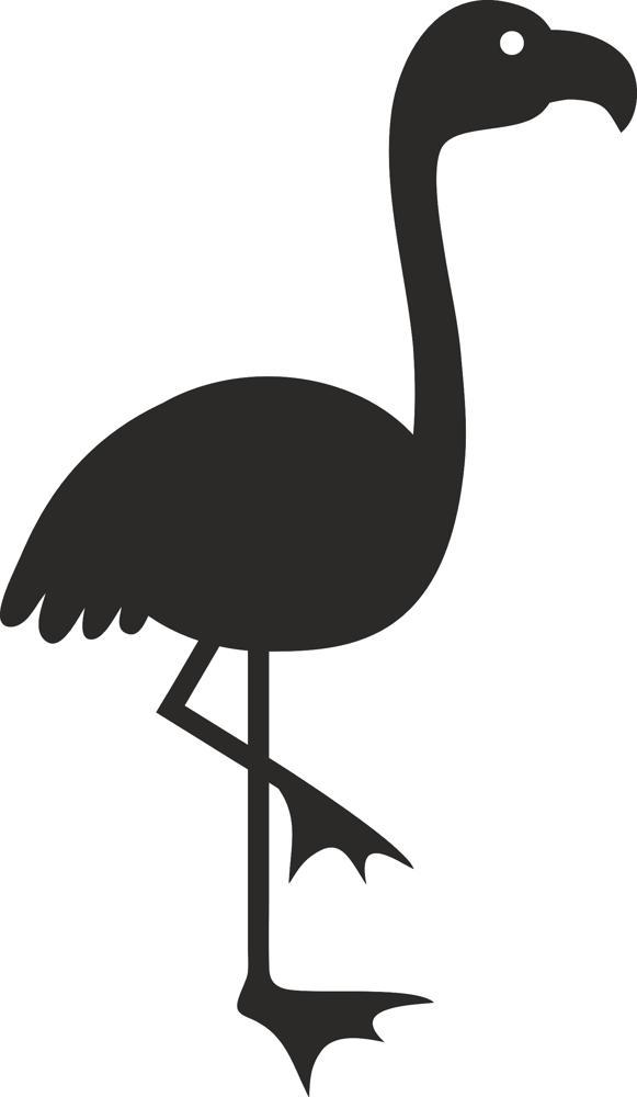 Bird Silhouette Vector dxf File