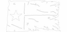 Tatteredtexasflag dxf File