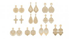 Vectors for cutting earrings Free Vector