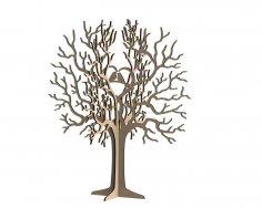 Birds Tree Jewelry Stand 3mm DXF File