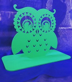 Owl Earring Holder Jewelry Stand CDR File