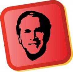 George W Bush Sticker