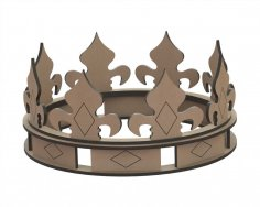 Crown Laser Cut Shape Free Vector