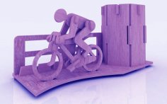 Bicycle Marathon Pen Holder Stand 3mm Free Vector