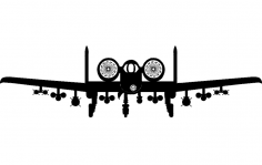 A10 Aircraft Front dxf File