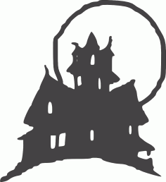 Halloween Clipart Castle DXF File