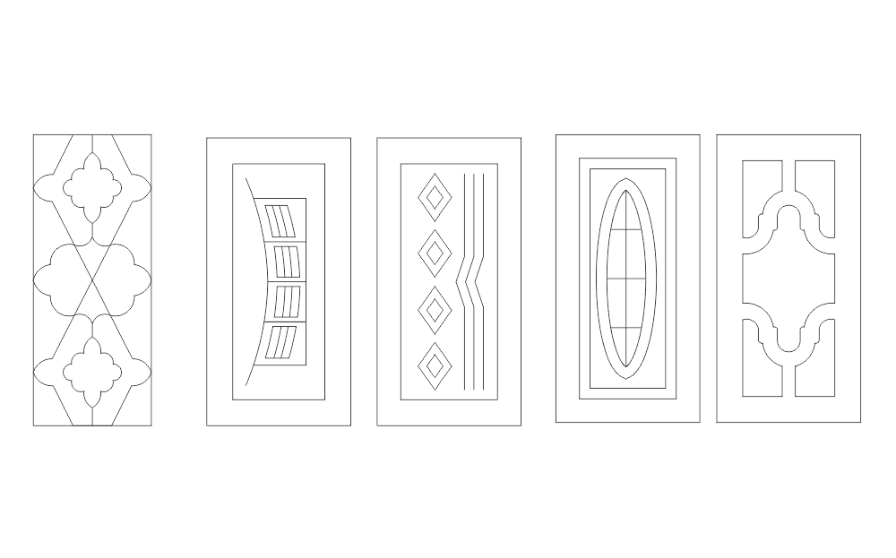 Doors Vectors DXF File