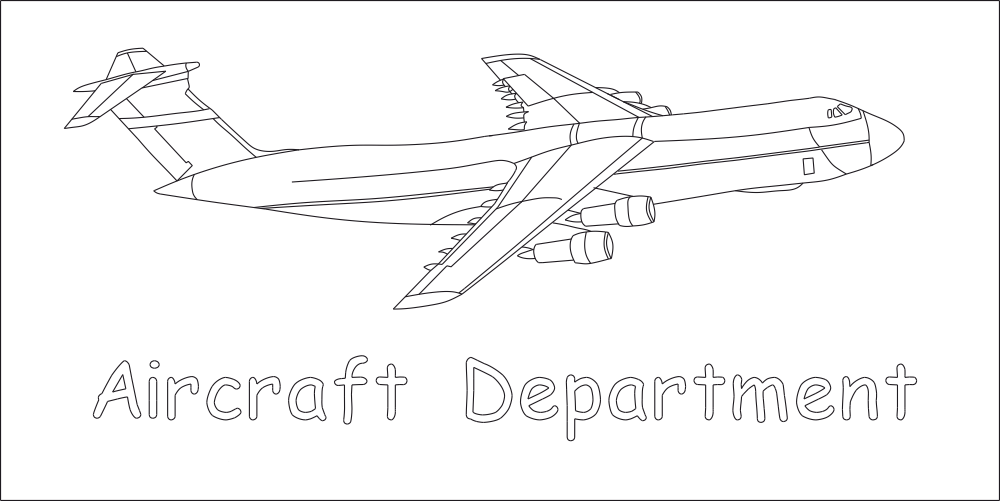 Aircraft Department DXF File