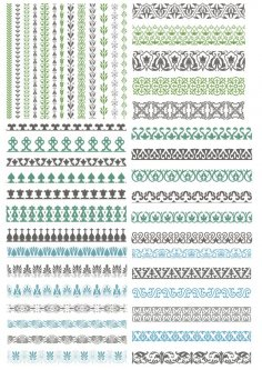 Vector Decorative Borders Free Vector