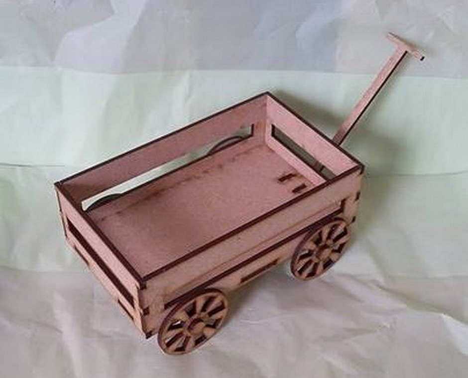 Cart Laser Cut PDF File