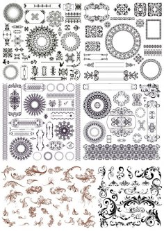 Set of Decor Elements Free Vector