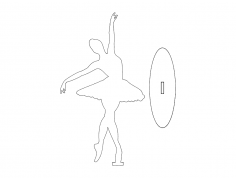 Ballet Dancer dxf File