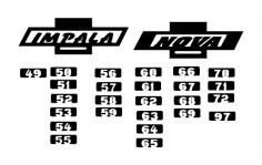 Chevy Logo Impala And Nova dxf File