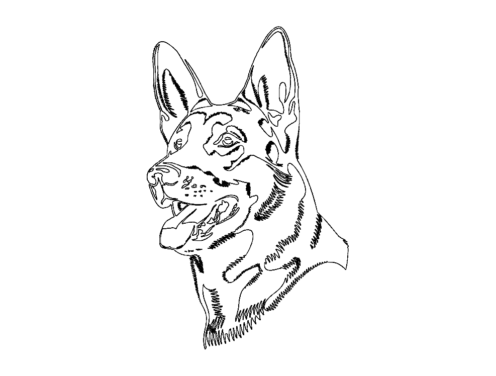 German Shepard Dog Dxf File Free Download 3axis Co