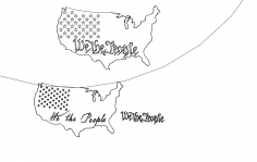 Us We The People In Cut paths dxf File
