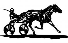 Horse And Jockey dxf File