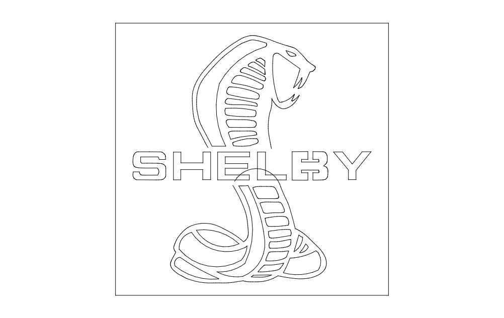 Shelby Logo dxf File